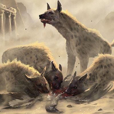 гигантская гиена Giant Hyena бестиарий Dd 5 Monster Manual